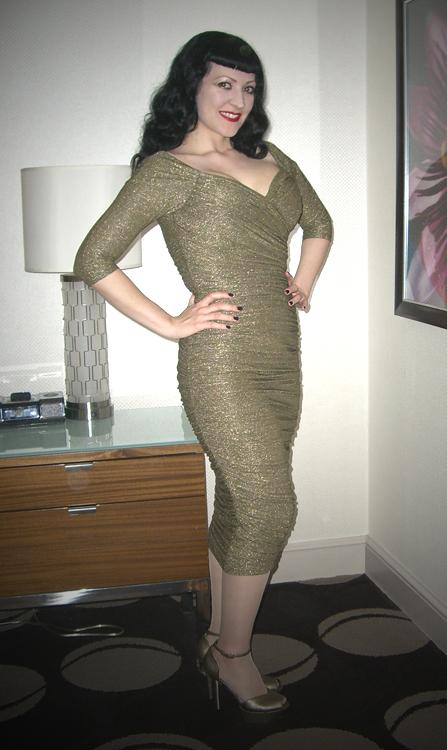 Gold Monica Dress